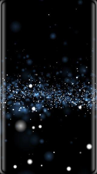 Обои на телефон s7, абстрактные, черные, синие, грани, свет, боке, точки