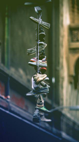 Обои на телефон хип хоп, обувь, линии, городские, город, zedgeurban18, shoes on a line