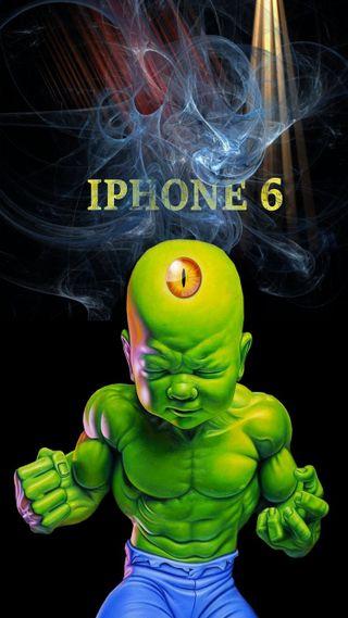 Обои на телефон айфон 6, халк, телефон, малыш, baby hulk