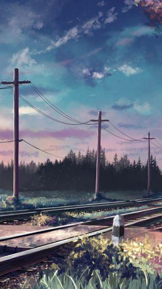 Обои на телефон поезда, рисунки, железная дорога