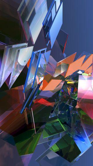 Обои на телефон квадратные, стекло, куб, коробка, абстрактные, 3д, 3d