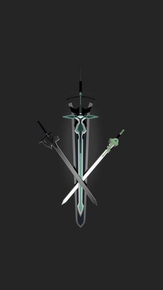 Обои на телефон сао, мечи, меч, кирито, арт