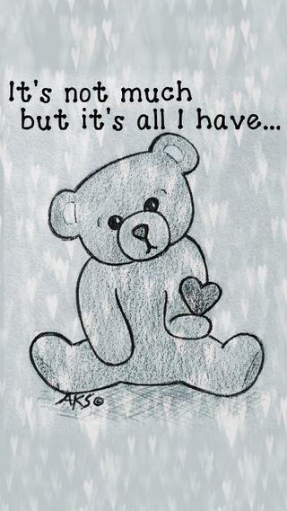 Обои на телефон эмо, тедди, готические, сердце, повредить, медведь, грустные, высказывания, боль, арт, give, emo heart bear, art