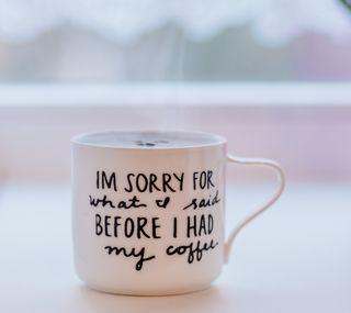 Обои на телефон чашка, кофе, sorry, cup