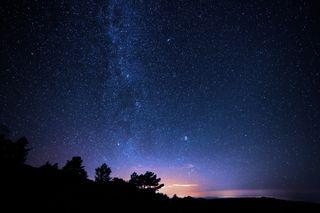 Обои на телефон аврора, фиолетовые, пейзаж, ночь, небо, звезды, галактика, galaxy