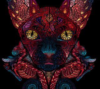 Обои на телефон мозаика, кошки, египетский, deviantart, bastet