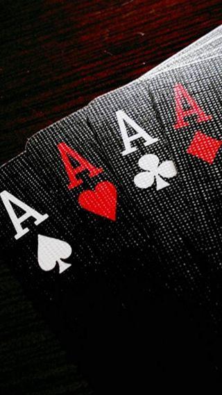 Обои на телефон туз, покер, карты, aces