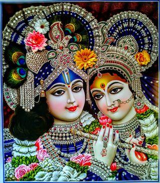 Обои на телефон radha krishna, shri krishna, кришна, радха