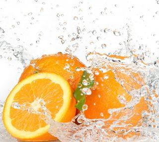 Обои на телефон свежие, фрукты, природа, оранжевые, вода