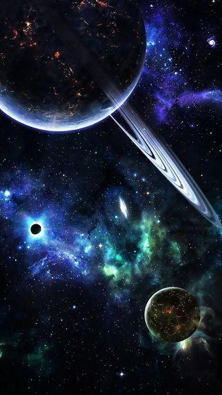 Обои на телефон наука, темные, планета, космос