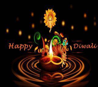 Обои на телефон цвета, счастливые, огни, дивали, ганеша, happy diwali