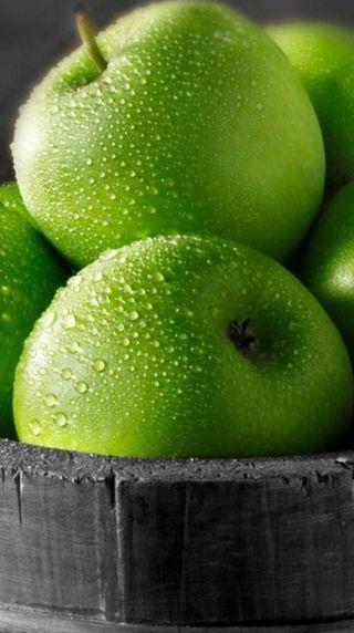 Обои на телефон фрукты, еда, зеленые, другие, apples