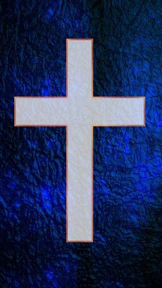 Обои на телефон церковь, религия, христианские, синие, крест