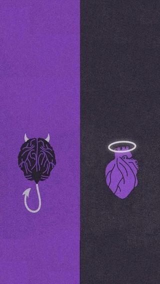 Обои на телефон сердце, плохой, дьявол, ангел, whatsapp, good and bad, good, bad