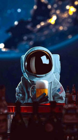 Обои на телефон пиво, космонавт, космос, забавные, dope