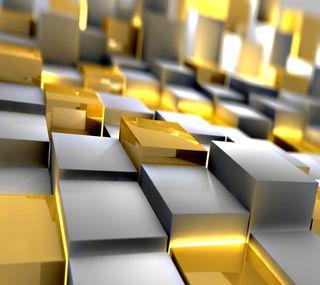 Обои на телефон кубы, золотые