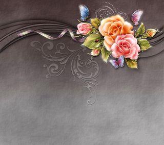 Обои на телефон светящиеся, цветы, романтика, розы, красочные, дизайн, ose