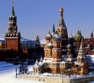Обои на телефон россия, снег, приятные, зима, город, moscow winter, capital city