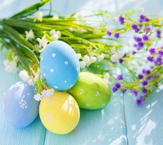 Обои на телефон яйца, пасхальные, цветы, украшение, праздник
