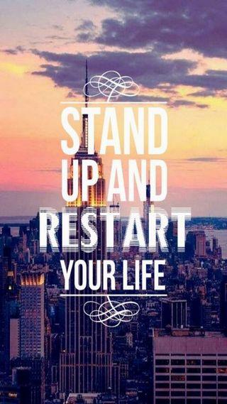 Обои на телефон жизнь, up, stand, restart