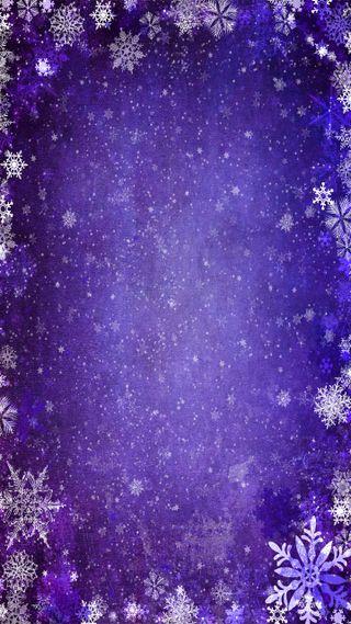 Обои на телефон снежинки, снег, мороз, зима, синие