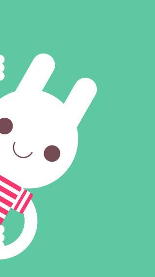 Обои на телефон дети, рисунки, простые, милые, кролик, зеленые, забавные, векторные, peek, hd