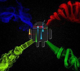 Обои на телефон логотипы, красочные, дым, андроид, revamped nexus, nexus, android