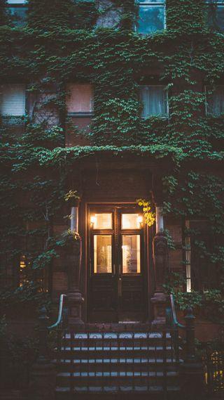 Обои на телефон скрытый, сад, огни, дом, visco, the hidden garden, greeen