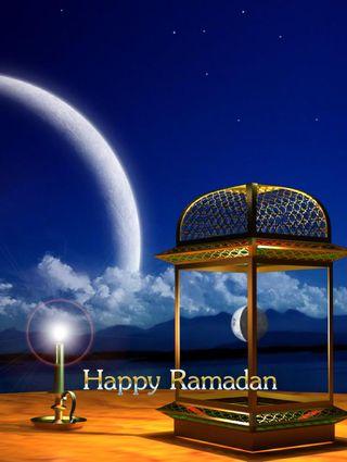 Обои на телефон фонарь, счастливые, свеча, свет, рамадан, пейзаж, небо, луна, happy ramadan