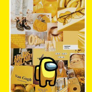 Обои на телефон желтые, амонг, among us yellow