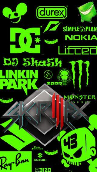 Обои на телефон неоновые, кен, зеленые, бренды, блок, y ba, skrillex, ra, n durex, dc, brands neon green