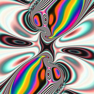 Обои на телефон изображения, цифровое, странные, розовые, красые, картина, иллюзии, желтые, вихрь, взрыв, белые, trippy explosion, illusions