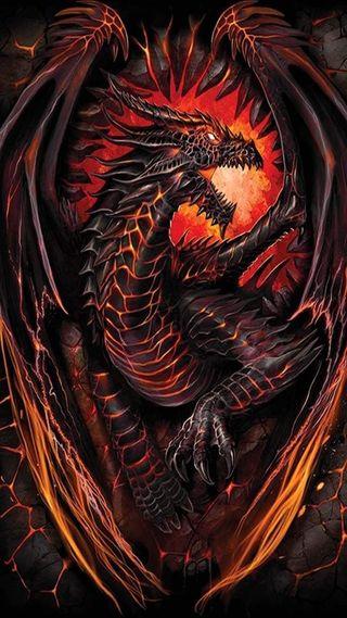 Обои на телефон огонь, дракон, dragon