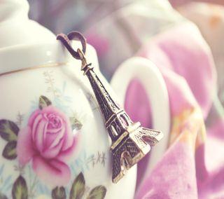 Обои на телефон чай, париж, время