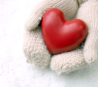 Обои на телефон руки, сердце, любовь, зима, love