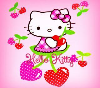 Обои на телефон hello, милые, мультфильмы, котята, персонажи, привет
