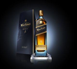Обои на телефон виски, синие, johnnie walker, blue label