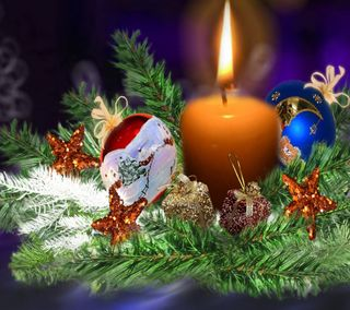Обои на телефон свеча, рождество, праздник, natal