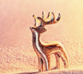Обои на телефон олень, свет, рождество, праздник, zedgemas15, reindeer of light, presents