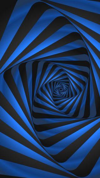 Обои на телефон art, s7, абстрактные, черные, синие, дизайн, арт, грани, спираль, графические