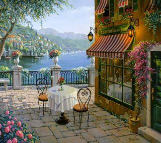 Обои на телефон анимационные, цветы, природа, прекрасные, пейзаж, озеро, милые, дом