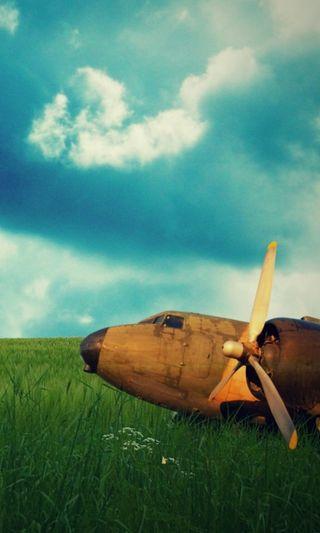 Обои на телефон самолет, природа, rusty