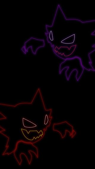 Обои на телефон фиолетовые, покемоны, покебол, пикачу, красые, haunter, ghastly, gengar