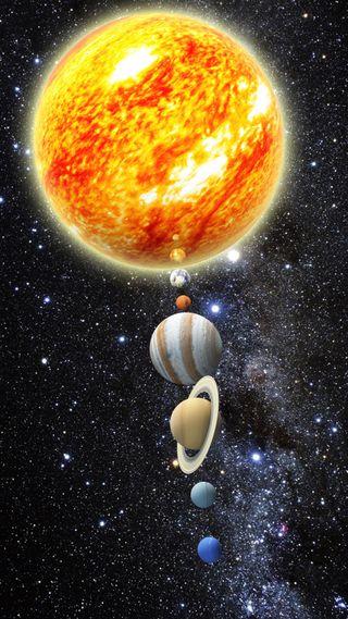 Обои на телефон солнечный, планета, наука, космос, земля, звезды, hd