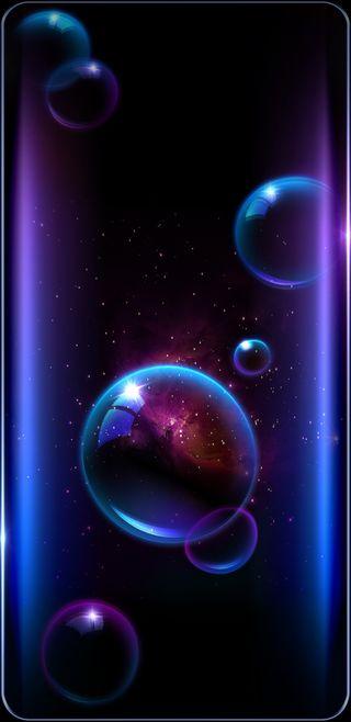 Обои на телефон galaxy, galaxybubbles, синие, галактика, прекрасные, космос, фиолетовые, светящиеся, пузыри, яркие