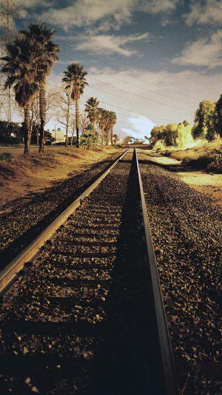 Обои на телефон поезда, ретро, retro train rails, rails