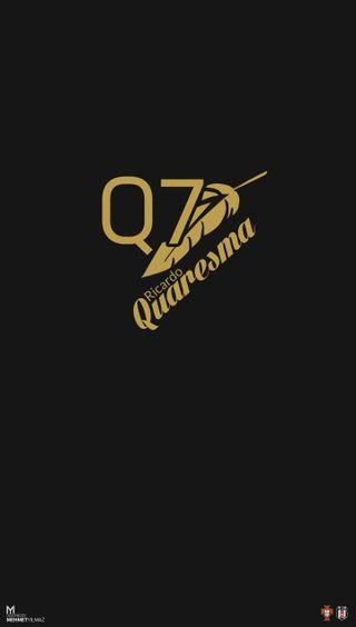 Обои на телефон бесикташ, черные, логотипы, картал, золотые, белые, quaresma, q7