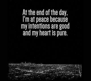 Обои на телефон конец, чистые, сердце, мир, день, intentions, good