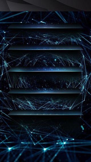 Обои на телефон домашний экран, синие, веб, strobe, spyoshi, shelves, blue web