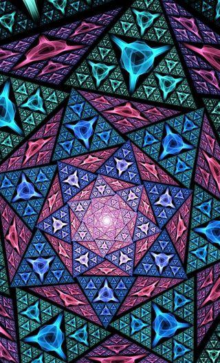 Обои на телефон мозаика, цветные, стекло